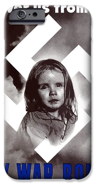 Ww2 iPhone Cases - Deliver Us From Evil iPhone Case by War Is Hell Store