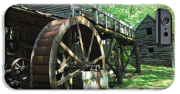 Grist Mill iPhone Cases - Dellinger Mill iPhone Case by Alan Lenk