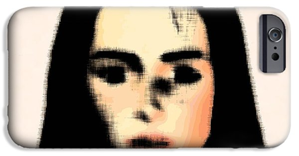 Face Recognition iPhone Cases - Dementia, Conceptual Artwork iPhone Case by Stephen Wood
