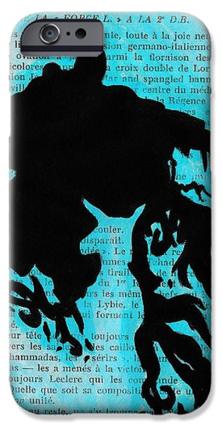 Creepy Drawings iPhone Cases - Dementor Doe iPhone Case by Jera Sky