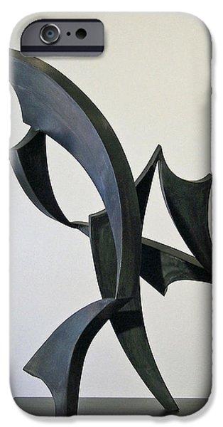 Abstract Movement Sculptures iPhone Cases - Demeter iPhone Case by John Neumann