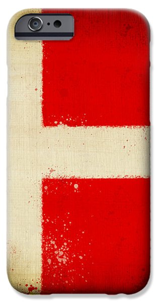 Denmark flag iPhone Case by Setsiri Silapasuwanchai