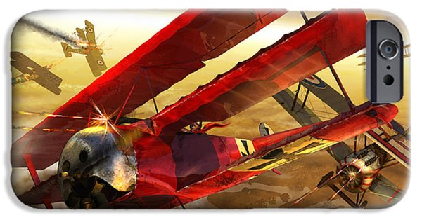 Wwi iPhone Cases - Der Rote Baron iPhone Case by Kurt Miller