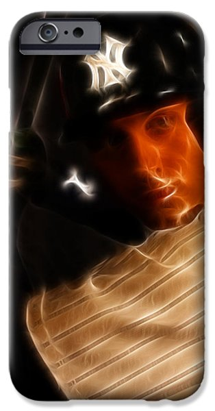 San Francisco Famous Photographers iPhone Cases - Derek Jeter - New York Yankees - Baseball  iPhone Case by Lee Dos Santos