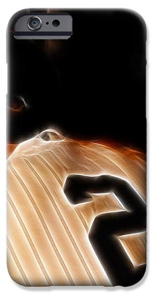 Derek Jeter II- New York Yankees - Baseball  iPhone Case by Lee Dos Santos