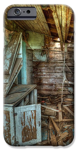 Mess iPhone Cases - Derelict House iPhone Case by Thomas Zimmerman