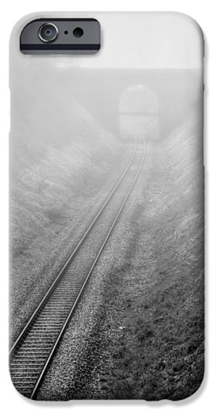 Fog Mist iPhone Cases - Descent Into Mystery iPhone Case by Evelina Kremsdorf