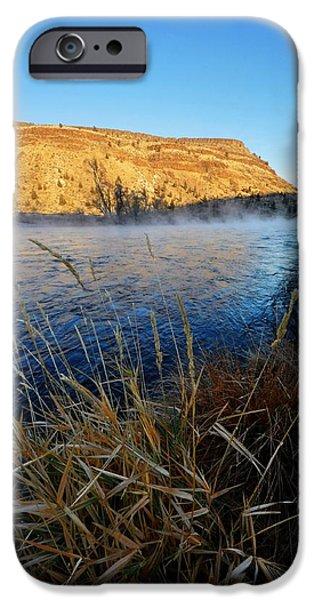 Deschutes River iPhone Cases - Deschutes River Steam  iPhone Case by Noah Cole