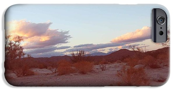 Rural Landscapes iPhone Cases - Desert and Sky iPhone Case by Naxart Studio
