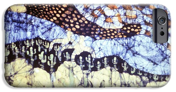 Crows Tapestries - Textiles iPhone Cases - Desert Crow iPhone Case by Carol Law Conklin