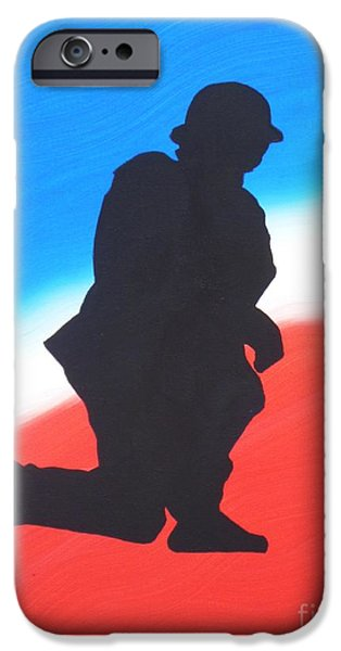 Iraq Paintings iPhone Cases - Desert Duty I iPhone Case by Alys Caviness-Gober