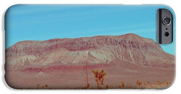 Field. Cloud iPhone Cases - Desert Mountain iPhone Case by Naxart Studio
