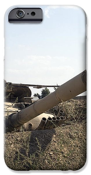 Destroyed Iraqi Tanks Near Camp Slayer iPhone Case by Terry Moore