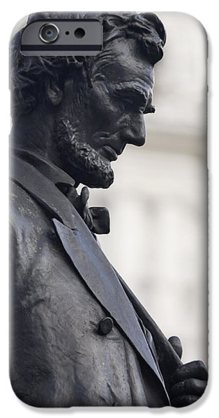 Politician iPhone Cases - Detail of Abraham Lincoln iPhone Case by Augustus Saint-Gaudens