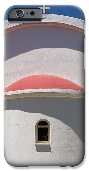 Detail Of Small Church Between Limnes iPhone Case by Axiom Photographic