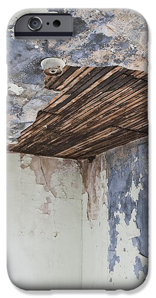 Deteriorating Ceiling in an Abandoned House iPhone Case by Jetta Productions, Inc