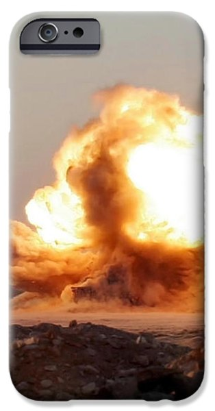 Detonation Of A Weapons Cache iPhone Case by Stocktrek Images