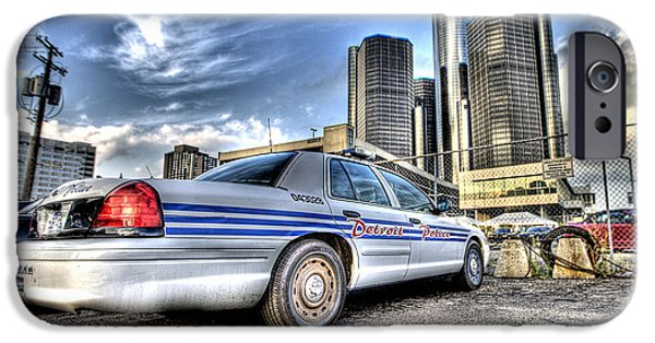 Police Art iPhone Cases - Detroit Police iPhone Case by Nicholas  Grunas