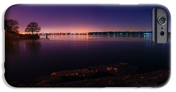 Windsor iPhone Cases - Detroit River Panorama iPhone Case by Cale Best