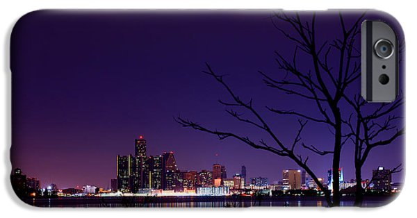 Windsor iPhone Cases - Detroit Skyline iPhone Case by Cale Best