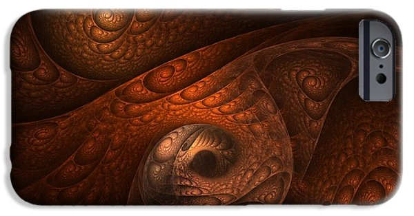 Abstract Digital Art iPhone Cases - Developing Minotaur iPhone Case by Lourry Legarde
