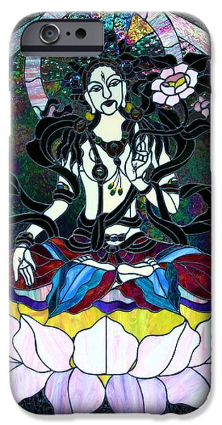 Devi Shakti Goddess iPhone Case by Karon Melillo DeVega