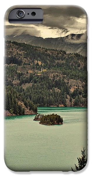 Diablo Lake - Le grand seigneur of North Cascades National Park WA USA iPhone Case by Christine Till