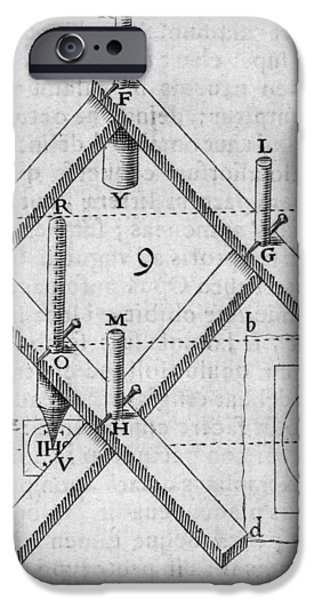 Diagram Of A Pantograph iPhone Case by Middle Temple Library