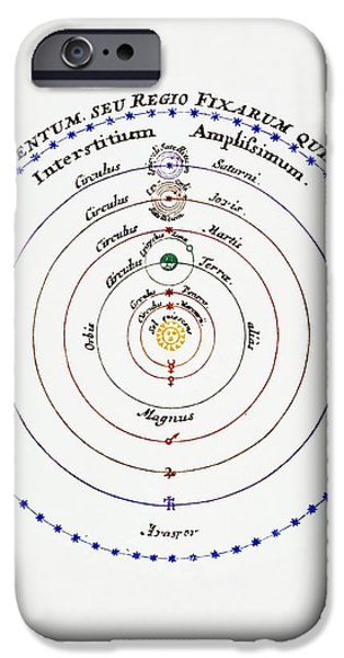 Copernicus iPhone Cases - Diagram Of Copernican Cosmology iPhone Case by
