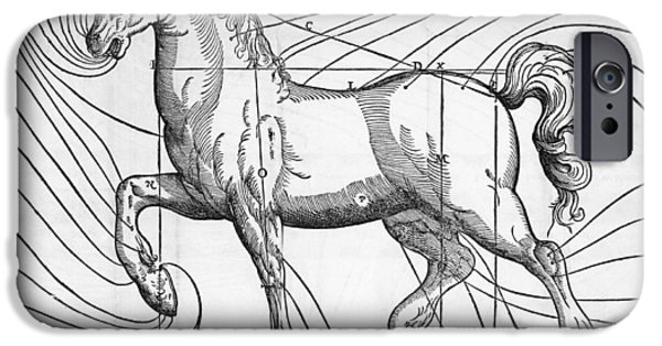 Proportions iPhone Cases - Diagram Of The Well-proportioned Horse iPhone Case by Middle Temple Library