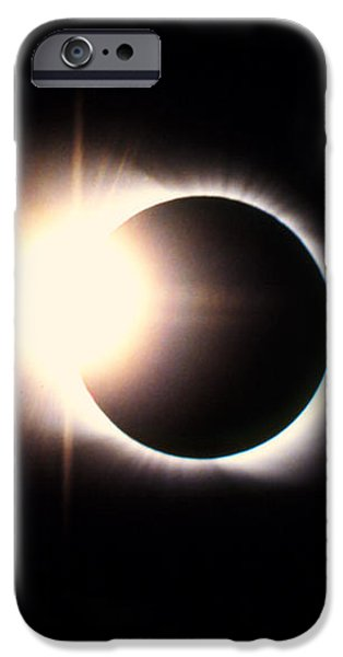 Diamond Ring Effect, Total Solar Eclipse iPhone Case by Rev. Ronald Royer