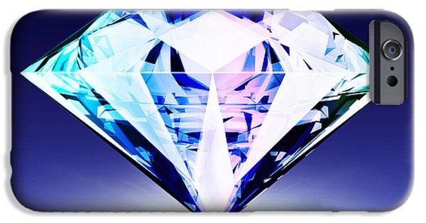 Three Dimensional iPhone Cases - Diamond iPhone Case by Setsiri Silapasuwanchai