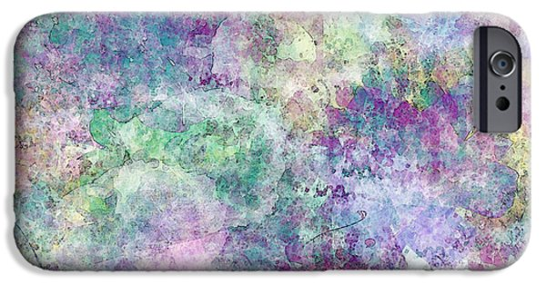 Abtracts iPhone Cases - Digital Abstract II iPhone Case by Debbie Portwood