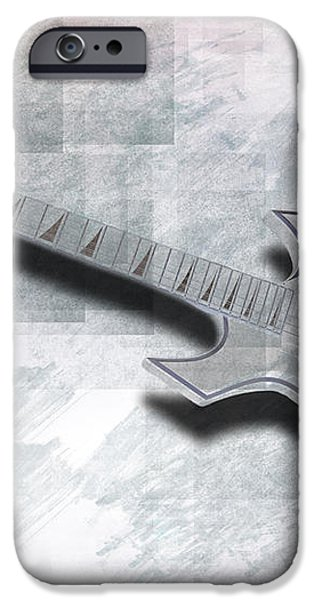 Digital-Art E-Guitar III iPhone Case by Melanie Viola