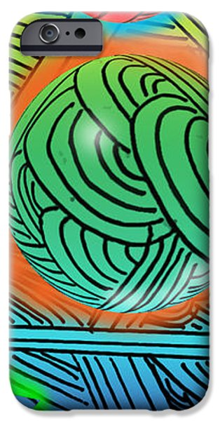 Abstract Digital Digital iPhone Cases - Digital Doodles iPhone Case by Anthony Caruso