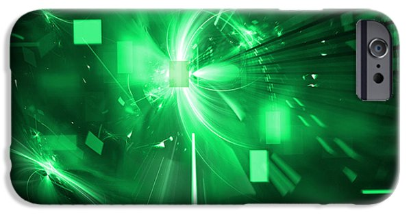 Best Sellers -  - Cyberspace iPhone Cases - Digital Explosion iPhone Case by Kim French
