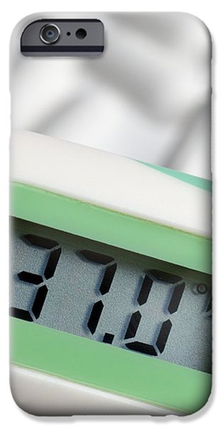Electrical Equipment iPhone Cases - Digital Thermometer iPhone Case by Steve Horrell