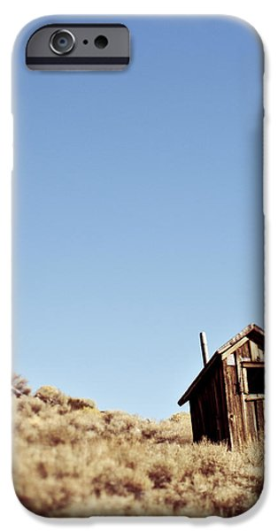 Dilapidated Outhouse on Hillside iPhone Case by Eddy Joaquim