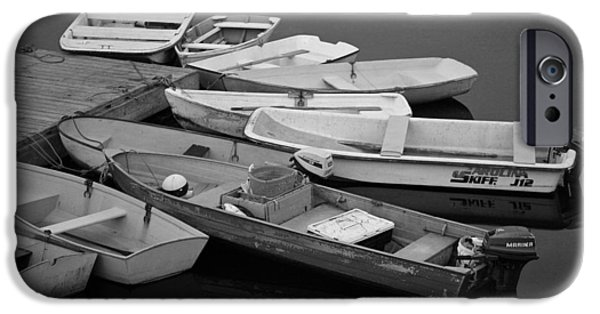 Skiff iPhone Cases - Dinghies iPhone Case by David Rucker