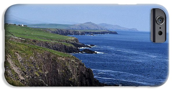 Irish Photographs iPhone Cases - Dingle Coast Near Fahan Ireland iPhone Case by Teresa Mucha