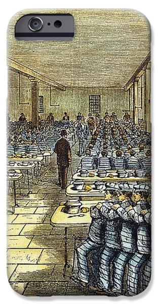 DINNER AT SING SING, c1878 iPhone Case by Granger