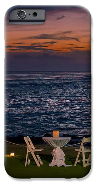 Dinner Setting in Paradise iPhone Case by Darcy Michaelchuk