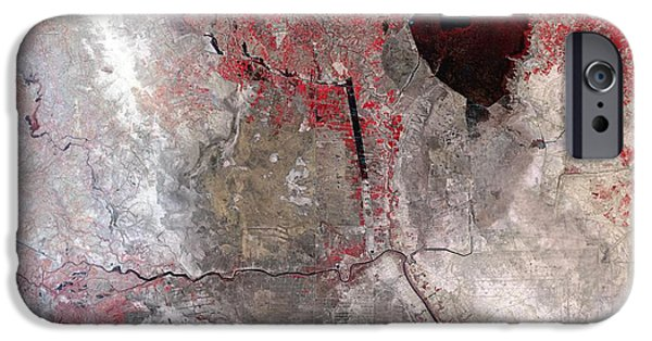 Iraq iPhone Cases - Disappearing Marshlands In Southern iPhone Case by NASA / Science Source