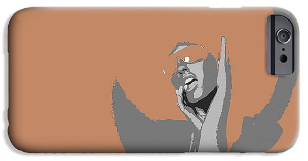 Afro iPhone Cases - Disco Dance Brown iPhone Case by Naxart Studio
