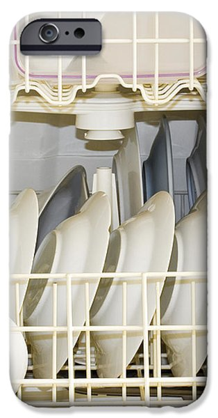 Dishes in a Dishwasher iPhone Case by David Buffington