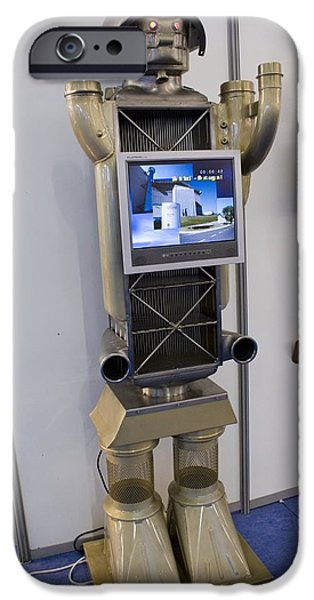 Components iPhone Cases - Display Robot iPhone Case by Mark Williamson