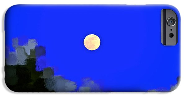 Man In The Moon iPhone Cases - Distortion iPhone Case by Gwyn Newcombe