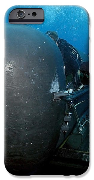 Divers Prepare To Launch A Seal iPhone Case by Stocktrek Images