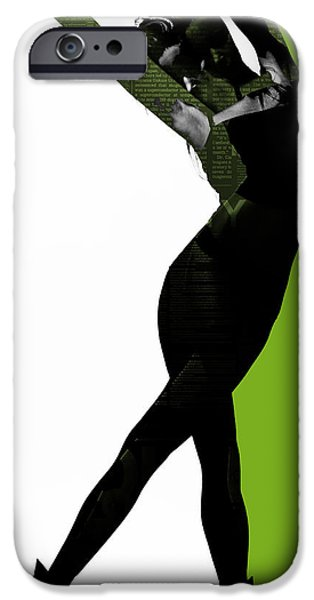 Ballet Digital Art iPhone Cases - Divided iPhone Case by Naxart Studio
