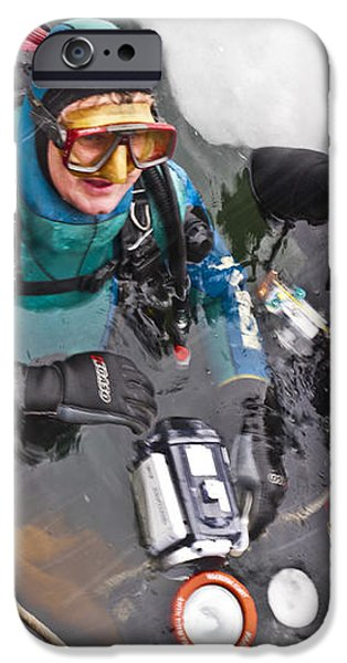 Diving in the Ice iPhone Case by Heiko Koehrer-Wagner